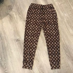 Other - Louis Vuitton Men's Brown Monogram Sweatpants 3XL
